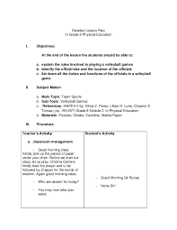 Pe Lesson Plan Pdf Detailed Lesson Plan In Grade 8 Physical Education