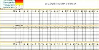 Holiday Tracker Template Vacation Schedule During Employee