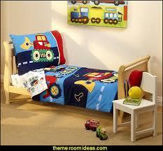 kids toddler bedding set under construction