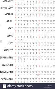 Simple 2015 Calendar An Illustration Of A Simple 2015 Year Calendar Stock Photo 72928296