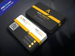 Download Free Modern Business Card Design Psd Template Psdcbcom