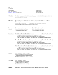 Free Resume Templates Basic Samples For High School Students 1