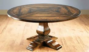vintage natural wood round pedestal pecan finish dining table by aa importing