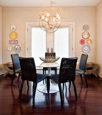 plug in chandelier dining room contemporary with animal print breakfast nook crown molding dark stained wood chandelier home office lighting