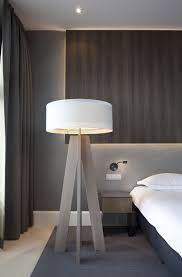 Mooie Wand Met Verlichting Geeft Hotelsfeer Slaapkamer In