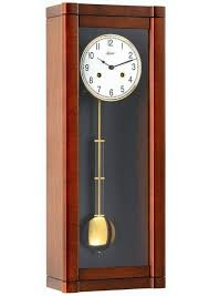 hermle rosslyn 8 day chime wall clock walnut