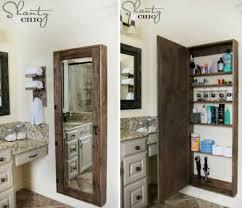 diy bathroom wall storage. Perfect Bathroom How To DIY Bathroom Wall Mirror Storage Case Tutorial Throughout Diy R