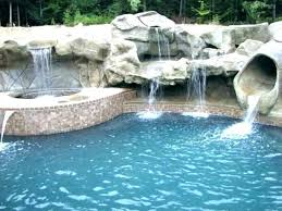 Image Ideas Cheapest Inground Pool Slides Rock Waterfalls For Pools In Ground Install Firsthand In Ground Pool Slides Clearance With Stone Waterfall For Pools Rock