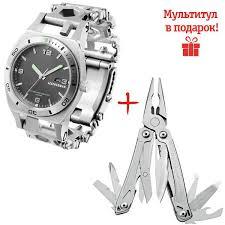 <b>Часы</b>-мультитул <b>Leatherman Tread Tempo</b> Steel 832421 ...