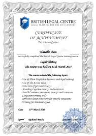 Legal – Certificate Sample Online English