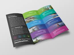 Travel Brochure Cover Design Travel Trifold Brochure By Fayshal On Dribbble