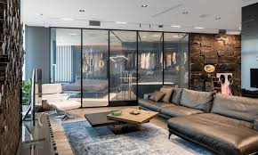 Masculine Interior Design Delectable This Modern And Masculine Apartment Has A Smart Glass Wall That Can