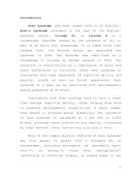 term paperintroduction down syndrome  the most common term in us english   down    s syndrome