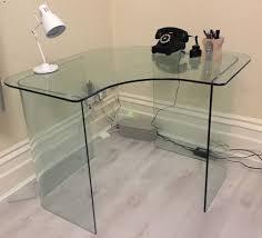 john lewis staten glass corner desk  excellent condition