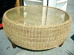 decoration rattan coffee table round and glass wicker inspirational large australia