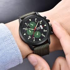 Wholesale Designer Watches Us 5 39 51 Off Wholesale Watches Mens Nylon Band Sports Date Quartz Wristwatches Unique Luminous Designer Watches Montre Homme De Marque 2018 In