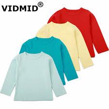 <b>VIDMID Long Sleeve</b> T Shirts For <b>Boys</b> Girls Tops <b>Kids</b> cotton T ...