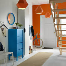 ikea hallway furniture. a hallway with blue chest of 4 drawers mirror hanging above ikea furniture g