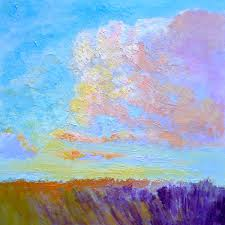 colorful clouds marsh painting art print on canvas or watercolor paper breathless by dorothy