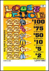 Deuce Ticket Vending Machine Locations Stunning Loose Deuce American Games Pull Tab Tickets Pull Tab Ticket