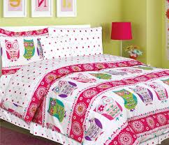 teen tween girls kids bedding 7 piece owl bedding twin size comforter set bed in