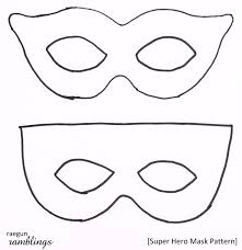 mask outline with superhero template superhero template alephbetapp 1000 mask outline mask outline full face mask outline after effects on happy face mask template