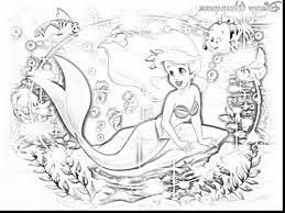 Small Picture astounding ariel little mermaid coloring pages with princess ariel