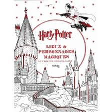 Lieux Et Personnages Magiques Harry Potter Livre De Coloriage