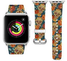 Design A Sugar Skull Online Amazon Com Printcase Apple Watch Band 38mm 42mm Genuine