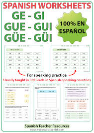 Spanish Syllables - GE, GI, GUE, GUI, GÜE, GÜI - Worksheets ...