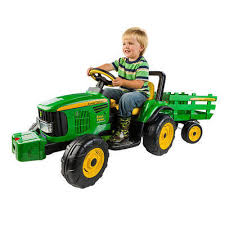 john deere turf tractor with trailer peg perego