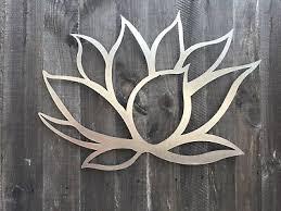 lotus flower metal wall art decor 3d