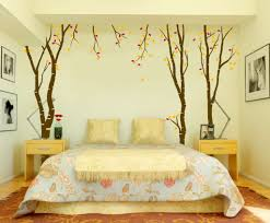 Romantic Bedroom Wallpaper Leafy Wallpaper For Romantic Bedroom Decorating Ideas With Elegant