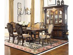 fairmont grand estates dining table. shown in room setting with hutch, upholstered side and arm chairs fairmont grand estates dining table royal furniture