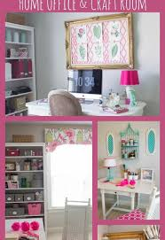 home office craft room ideas. pink green girly organized ultimate home office craft room maekover rooms decor ideas