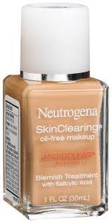 neutrogena skin clearing oil free makeup
