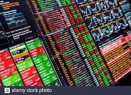 Stock Exchange Screen Stockfotos und ...
