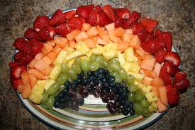 How To Decorate Fruit Tray Rainbow Birthday Party Theme Oh Honestly 12