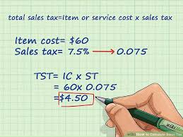 7 5 Sales Tax Chart 4 Ways To Calculate Sales Tax Wikihow