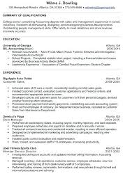 Accounting Student Resume Accounting Student Resume Sample College ...