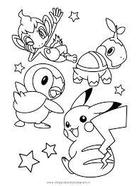 Pokemon Kleurplaat Chimchar Turtwig Piplup Pikachujpg Cartoni Az