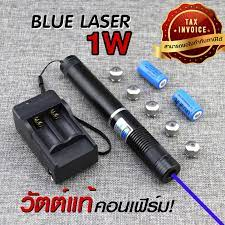 ซื้อที่ไหน Blue Laser เลเซอร์แสงสีฟ้า 1000Mw เลเซอร์แรงสูง เลเซอร์แสงแรงสูง  เลเซอร์พ้อยเตอร์ (ขอใบกำกับภาษีได้) - Allen Cool Gadget