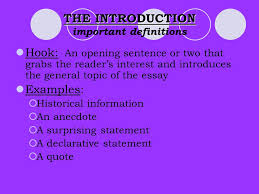 the five paragraph essay ppt the introduction important definitions