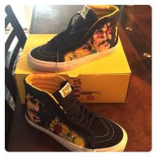 womens size 14 shoes 14 off vans shoes the beatles reissue sk8hi size womens 7 poshmark