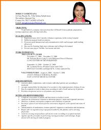 Resume Format For Job New Sample Of Biodata Application 5 In