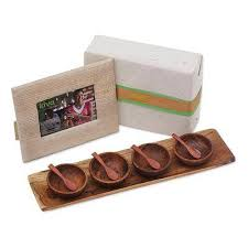 bali handcrafted photo frame and condiment bowls gift set kiva perfect party gift set