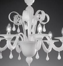 lampadari in vetro di murano blown glass chandelier re inside white ideas 16
