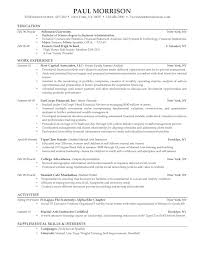 62 Resume Examples For Recent College Graduates Resume