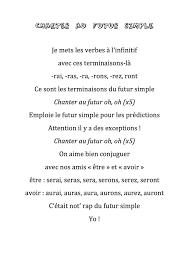 Le Rap Du Futur Simple écrit Par Les Enfants Français 4 Language