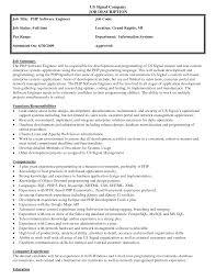 Job Description Form Sample Best Photos of Samples Of Job Descriptions Formats Sample Job 1